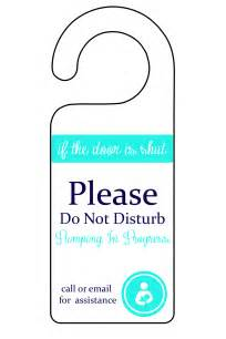 Printable Do Not Disturb Pumping Sign
