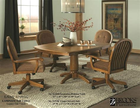 214620 Brooks Laminate Table & 21518C Roller Chairs