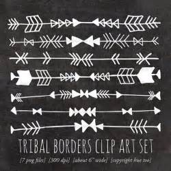 Tribal Arrow Clip Art Borders