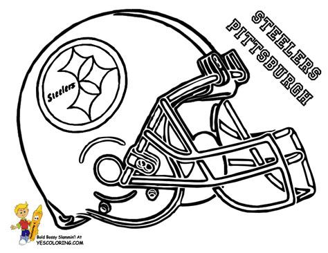 Big Stomp Pro Football Helmet Coloring