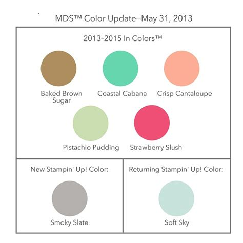 2 Free Color Charts And More Cool Stampin' Up! Stuff