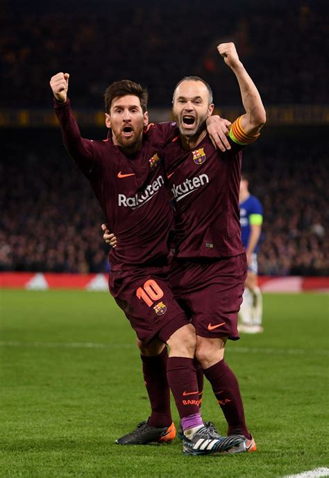 Messi e Iniesta (Chelsea vs. Barcelona 2018)   Caras do ...