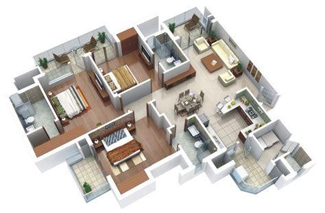 3 bedroom house plans 25 three bedroom house apartment floor plans