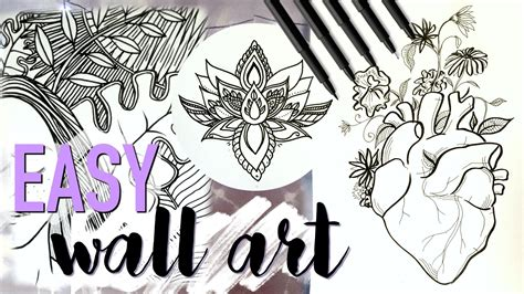 easy diy wall decor inspired drawing tutorial