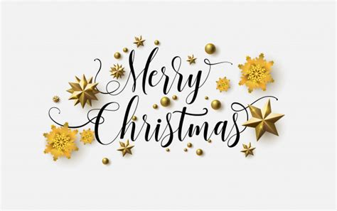 Merry christmas calligraphy with a white background and