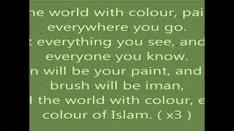 islam colors dawud wharnsby colours of islam lyrics