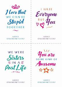 Free Galentine's Day Printable Postcards – Alternative ...