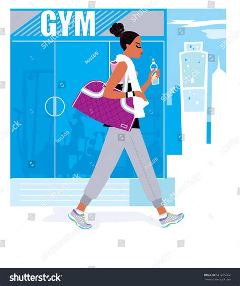 Black Woman Wearing Sport Outfit Drinking Stock Vector 511205062 - Shutterstock