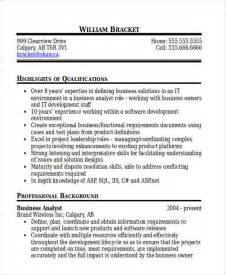 Software Business Analyst Resume Sle by 100 Software Business Analyst Resume Wayne Skip Smith
