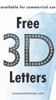 Freebie 3D Letters – available for commercial use – Your ...
