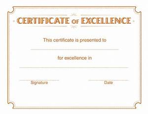 14  Certificate Of Excellence Templates