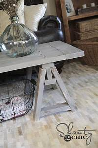 diy sawhorse coffee table shanty 2 chic With sawhorse coffee table