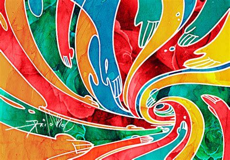 digital malaysia art batik  maxvu  deviantart