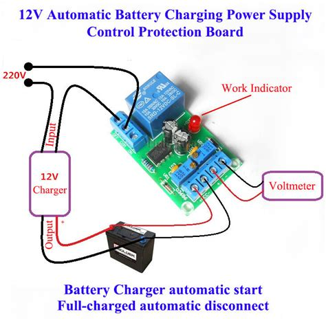 Battery Automatic Charging Switch Controller Module