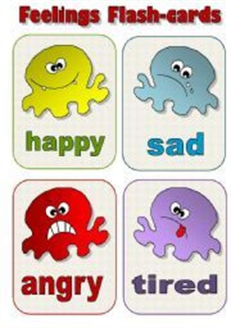 English Teaching Worksheets Feelings Flashcards  Education  Pinterest  Feelings, Worksheets