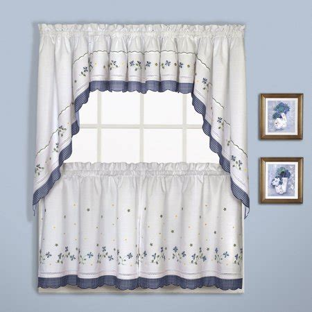 gingham    window curtain cafe kitchen tier pair