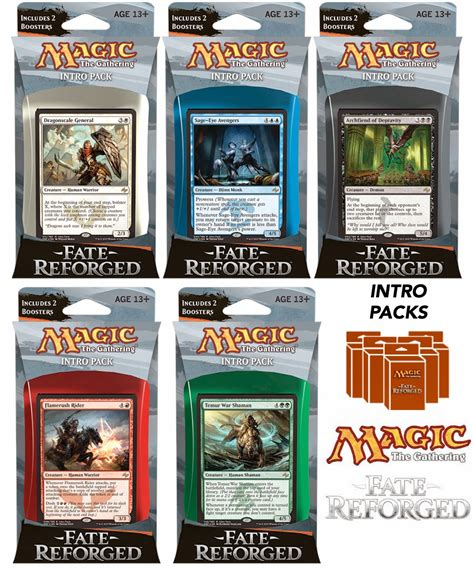 Mtg Fate Reforged Pre Made Decks by Mtg Realm Fate Reforged Intro Packs