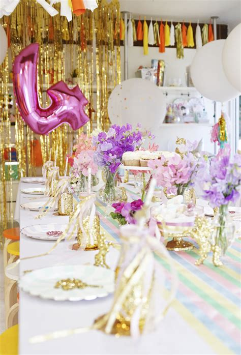 magical unicorn birthday party birthday party kara 39 s party ideas magical quot magic is four real quot unicorn