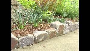 Garden, Ideas, Stone, Garden, Edging, Ideas