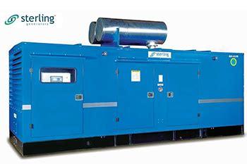 dg sets  sterling generators powered  volvo penta