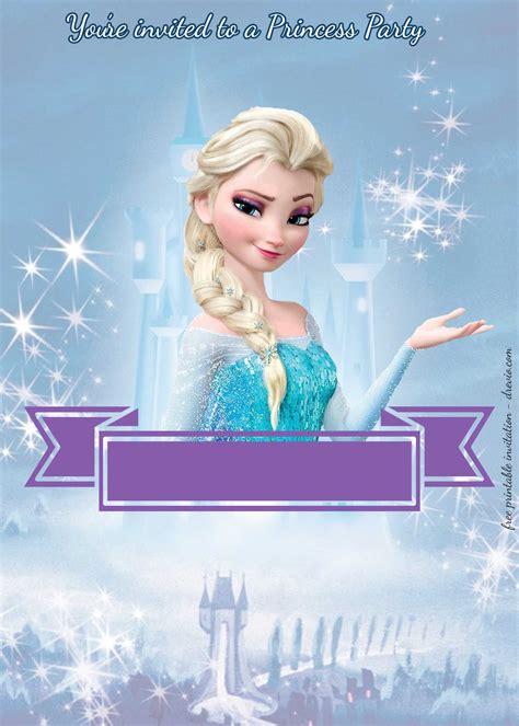 disney princesses birthday invitation templates