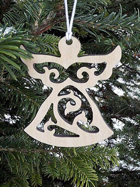 Wooden Angel Ornaments Christmas