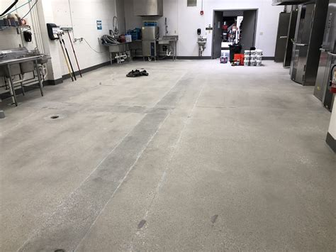 commercial kitchen epoxy flooring project columbus ohio