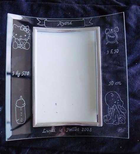 cadre en verre pour photo cadre photo naissance gravure sur verre quot la magie du verre quot