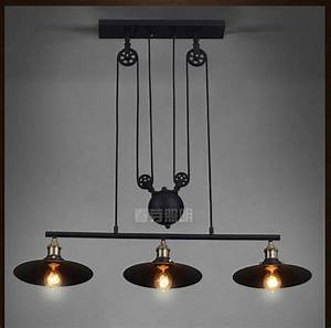 Nordic Industrial Pendant Lamp Lights RH Loft Pulley