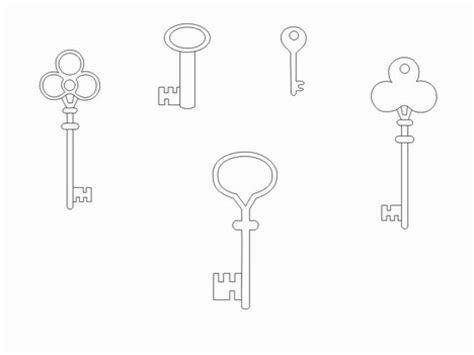 key template key outline clip