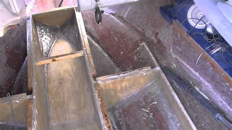 sea ray  signature deck  stringer restoration