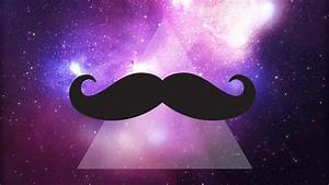 Galaxy Mustache Wallpaper - WallpaperSafari