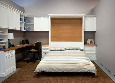 combination home office guest room with pull wall