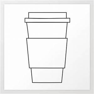 Coffee Cup Art Print | Art, Coffee cups and Cups