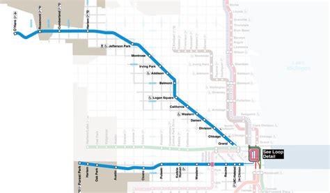 Blue Line Chicago Train Map
