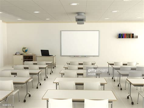 classroom  interactive whiteboard high res stock photo