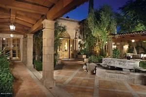 Mediterranean Patios, Pergolas, Stucco Terraces, Water
