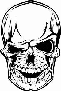 Danger Skull As A Warning Or Evil Concept
