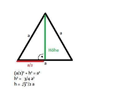 mathe tetraeder oberflaeche mathematik geometrie