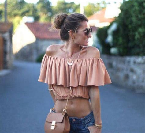 Blouse cute girl pretty pink jeans summer tumblr outfit body goals - Wheretoget