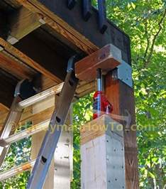 how to install a 6x6 wood deck post by up the deck