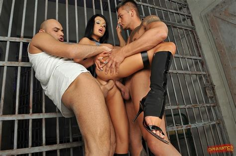 Policewoman Aletta Ocean Getting Double Fucked In The Jail