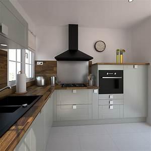 Modele De Cuisine Moderne : modele de cuisine moderne cuisine sur mesure prix cbel ~ Melissatoandfro.com Idées de Décoration