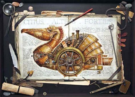 steampunk animal illustrations  vladimir gvozdev