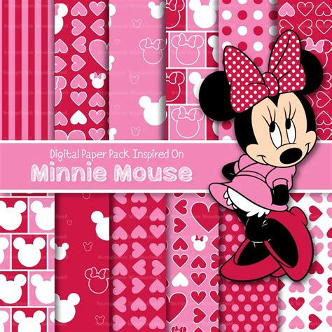 kit digital minnie mouse pack fondos papel cliparts
