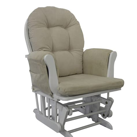 rocking chair or glider white glider rocking chair nursing maternity chair free matching stool
