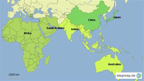 Afrika/ Asien/ Mittlerer Osten von ISM - Landkarte für ...