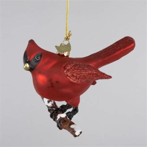 glass cardinal bird christmas tree ornament ebay