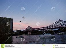 Brisbane River City Army Helicopter Editorial Photo