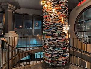 Unique Book Column at the Paper Factory Hotel DesignShell